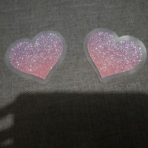 Victorias Secret Ombre Glitter Heart Pasties